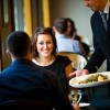 Enjoying a meal at The Bistroor The Lara Restaurant from 6.30pm nightly, boasting the finest local and seasonal produce, lovingly prepared by our team of chefs.  Extensive Wine list also available.