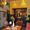 Cosy Finnegans Bar, serves bar food throughout the day.  Live entertainment on selected nights